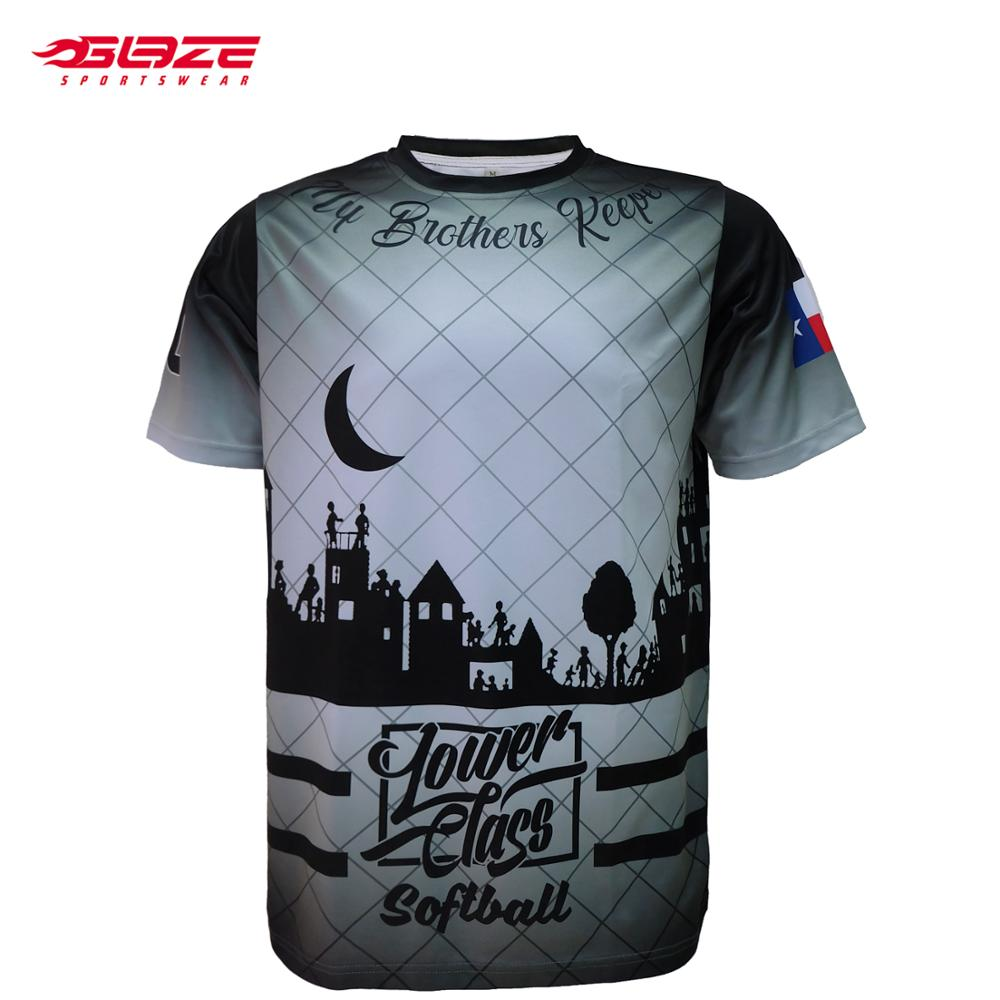 Volledige dye sublimatie team USA softbal jersey