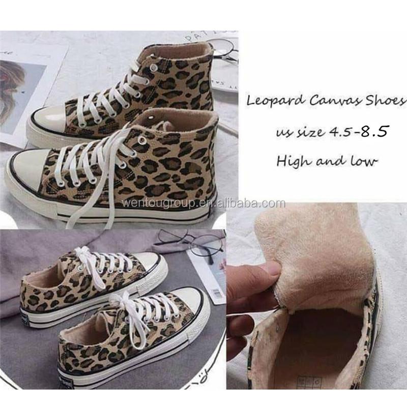 Venta Caliente Al Por Mayor De Terciopelo Mujer Leopardo Zapatos De Lona Zapatos Zapatillas Buy Zapatos De Lona De Leopardo,Zapatillas Bajas De