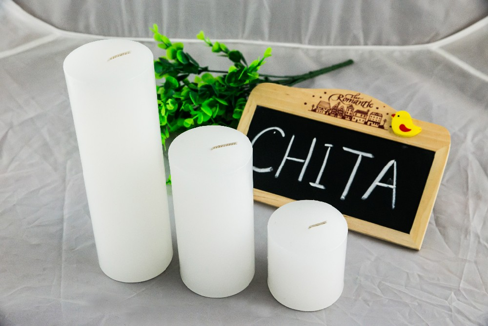 factory supply white unscented pillar candle 7*15cm decoration candles