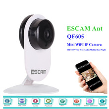 Ip Camera QF605 Wifi Mini Household Wireless Network HD 720P IR Cut P2P Indoor Surveillance Night Vision Security CCTV Camera