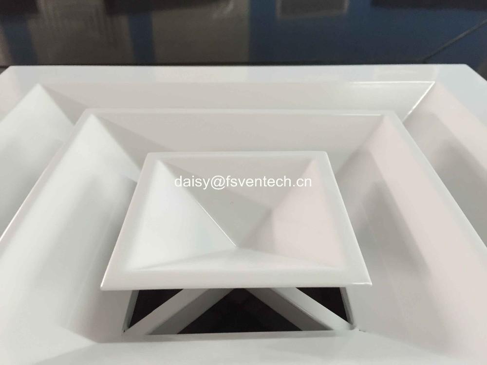 China Supplier Hvac Aluminum Supply 4 Way Ceiling Square Air ...