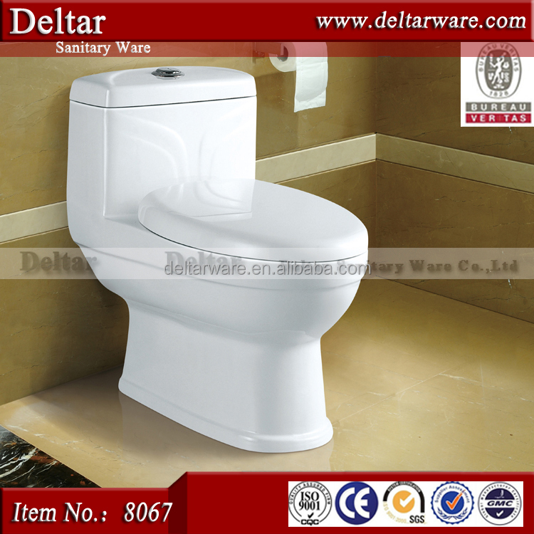 Siphon Flushing S Trap Ceramic One Piece Toilet For Dubai