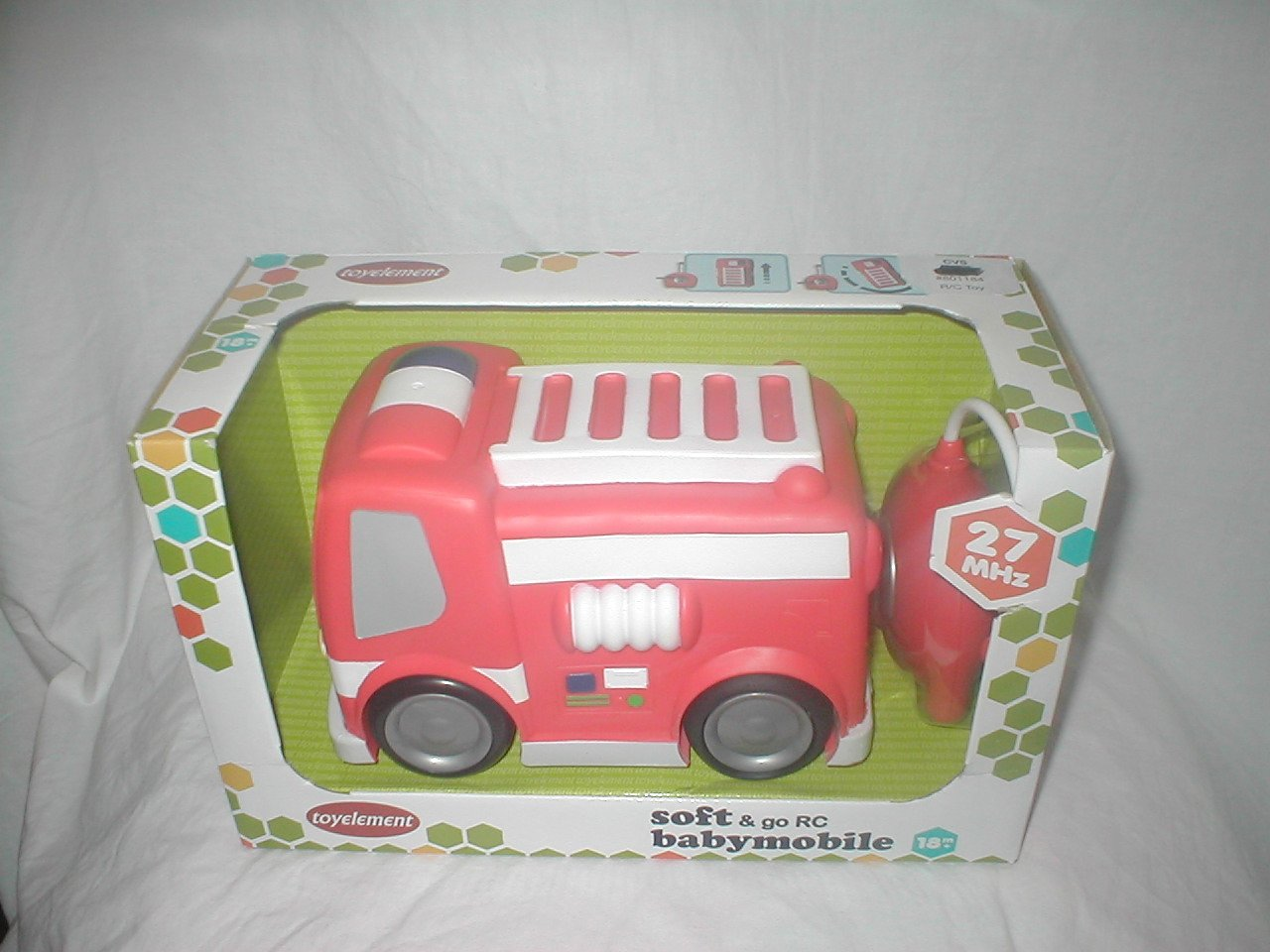 Get Quotations Toy Element Soft Go Rc Babymobile Fire Truck In Bright Red With Remote