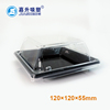 PS PP PET black and clear lid take away plastic food sushi packaging box