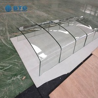8mm 10mm 12mm thick ultra white low iron hot bending glass factory