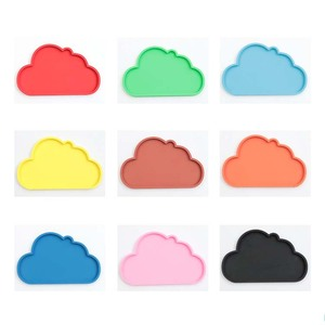 Cloud shape customizable environmental protection tea cup table mat