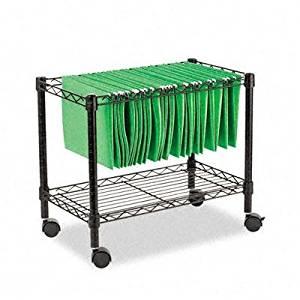 "Alera - Single-Tier Rolling File Cart 24W X 14D X 21H Black ""Product Category: Office Furniture/File Folder Carts"""