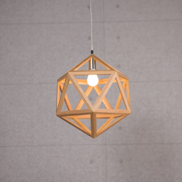 Modern Creative Wooden Net Led Pendant Light Cage Chandelier Light ...