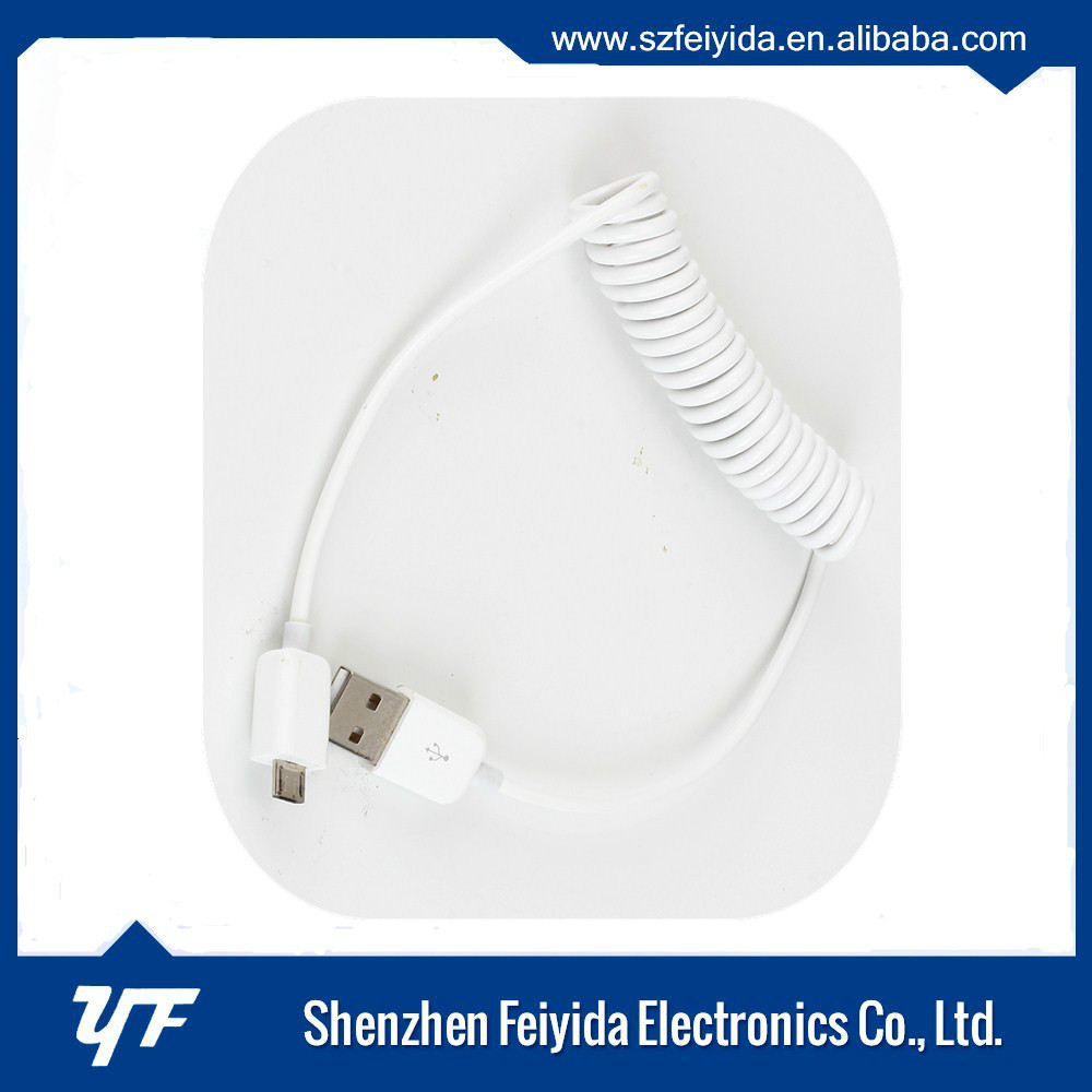 Fast charing Stretching USB 1A/2A/3A data charger cable for Android