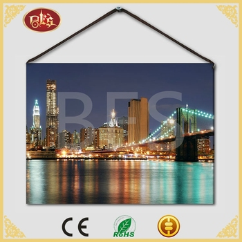 Home Decor Gift City Bridge Painting Oil On Canvas
