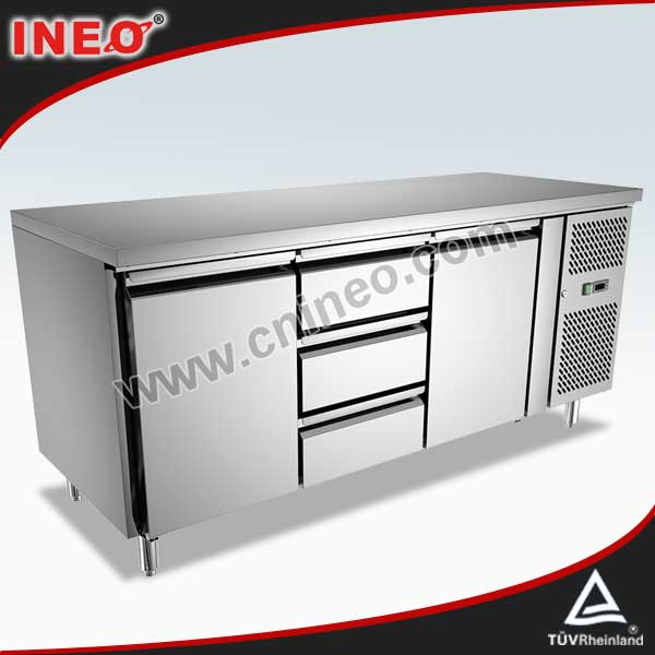 304 Stainless Steel Low Power Consumption Refrigerator/Refrigerated Counter/Freezer Refrigerator Hotel Kitchen