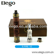 2014 vision electronic cigarette xfire efire skull wood spinner battery