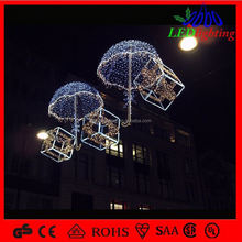outdoor city decoration holiday street skylines decorarion motif light