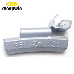 Zinc clip wheel weights for car