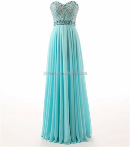 Fiesta Fashion Dresses Luxury Crystals Beaded Chiffon Evening Wear Gown 2016 Sweetheart Backless Sequined Prom Dress Robe Soiree