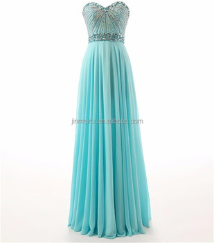 352a405d044 Fiesta Fashion Dresses Luxury Crystals Beaded Chiffon Evening Wear Gown  2016 Sweetheart Backless Sequined Prom Dress