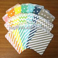 Stripe/ Polka dots/ Chevron- candy buffet bags - cookie bags - gift packaging - food packaging
