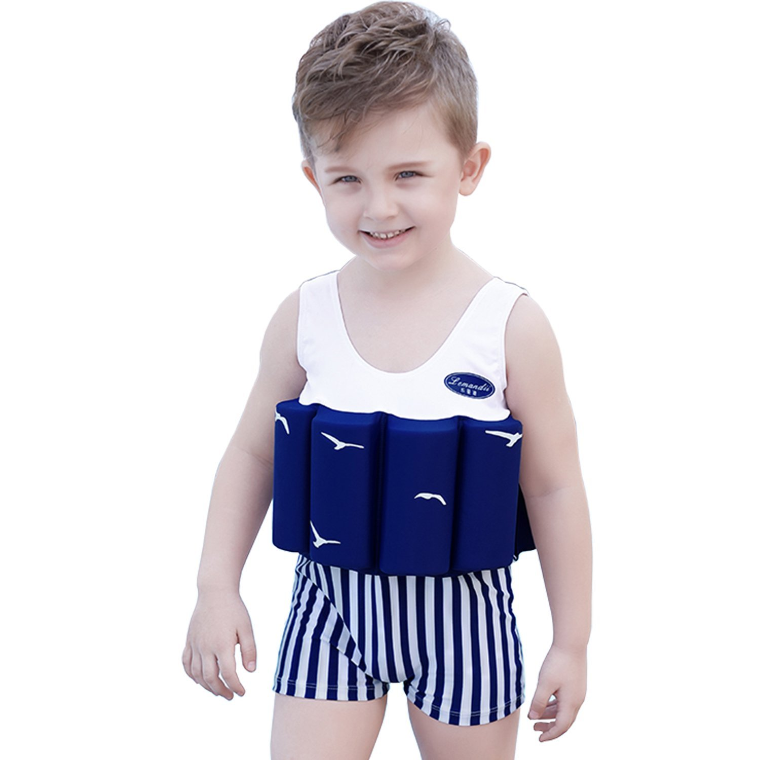 0b0208f0b9 Get Quotations · ONMet Kids Life Jacket Baby Float Suit Detachable Float  Adjustable One-Piece Swimsuit Buoyancy for