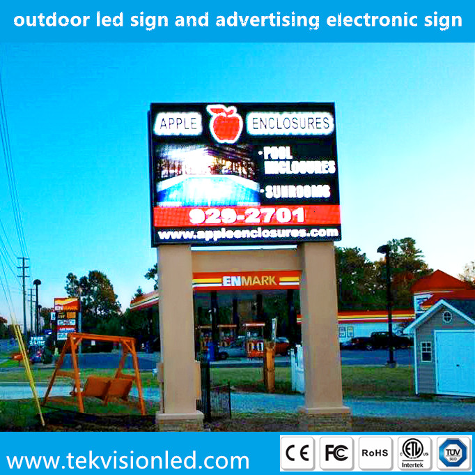 Double sided or single sided full color outdoor led sign and advertising electronic sign manufacturer