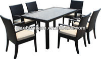 SGS TEST best selling glass dining table set low price