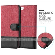 Popular fine quality flip stand magnetic canvas card slots phone case for iphone 7
