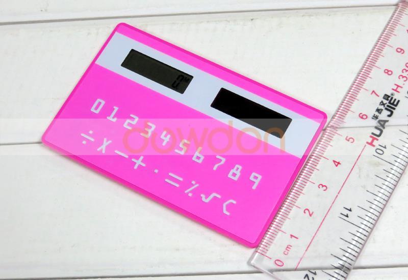 Mini calculatrice de poche d/énergie solaire de carte de cr/édit mince avec le grand affichage de 8 chiffres H