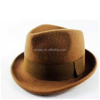Sombreros para hombres campesino sombrero fedora sombreros de fieltro de  lana fe0e3050afd