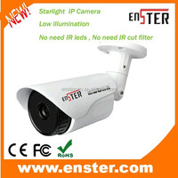 ENSTER NEW Technology Full color image at night & day 1.3 Megapixel Starlight Low illumination IP Camera with SONY CMOS sensor