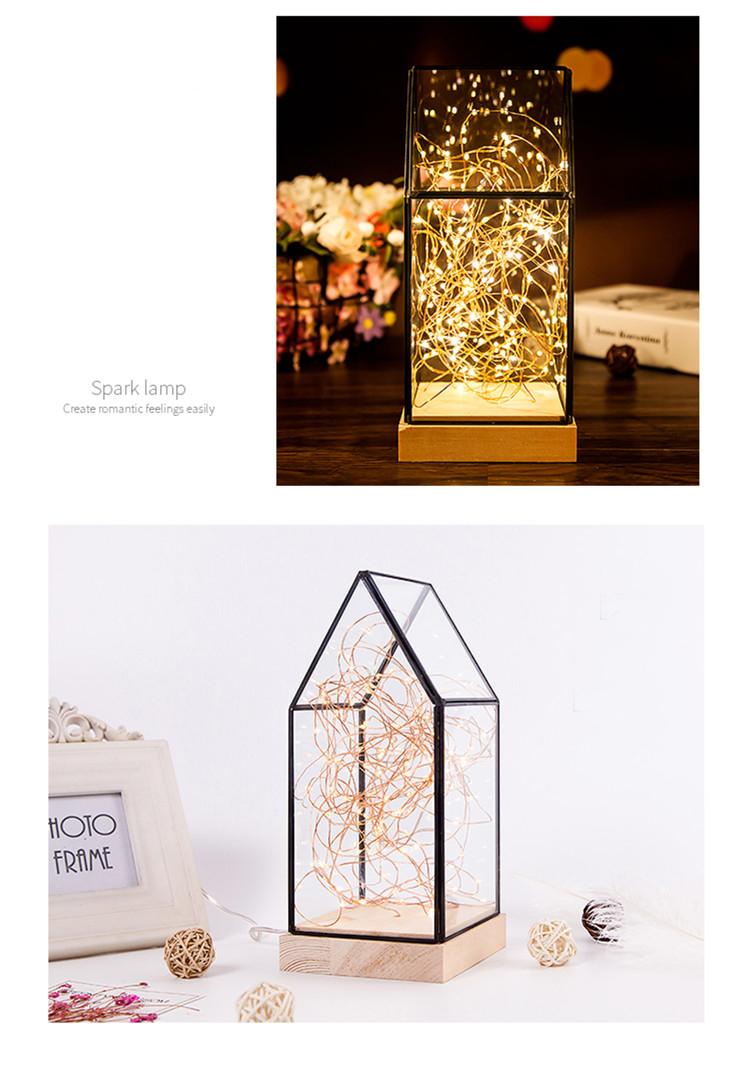 Creative christmas gift house lamp fire tree silver flower LED decorative light night light 5