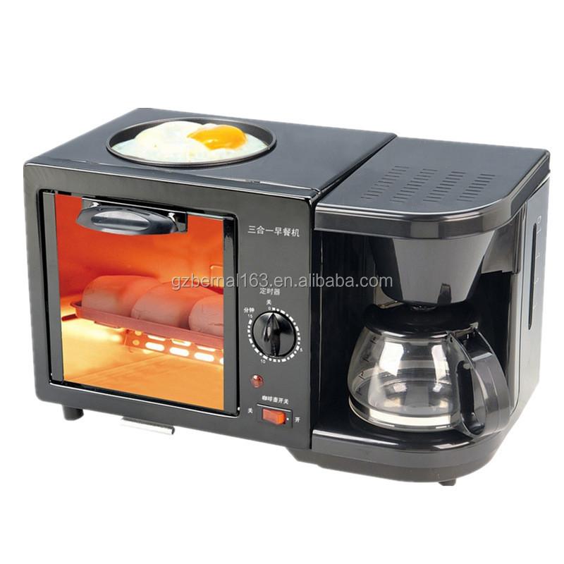 3 En 1 Petit Déjeuner Machine (four Grille-pain,Machine À Café ...