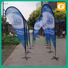 Feather Flag Style and Printed Type Flying Teardrop Banner