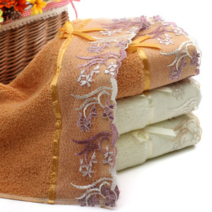 quality embroidery lace face towels exquisite microfiber towel