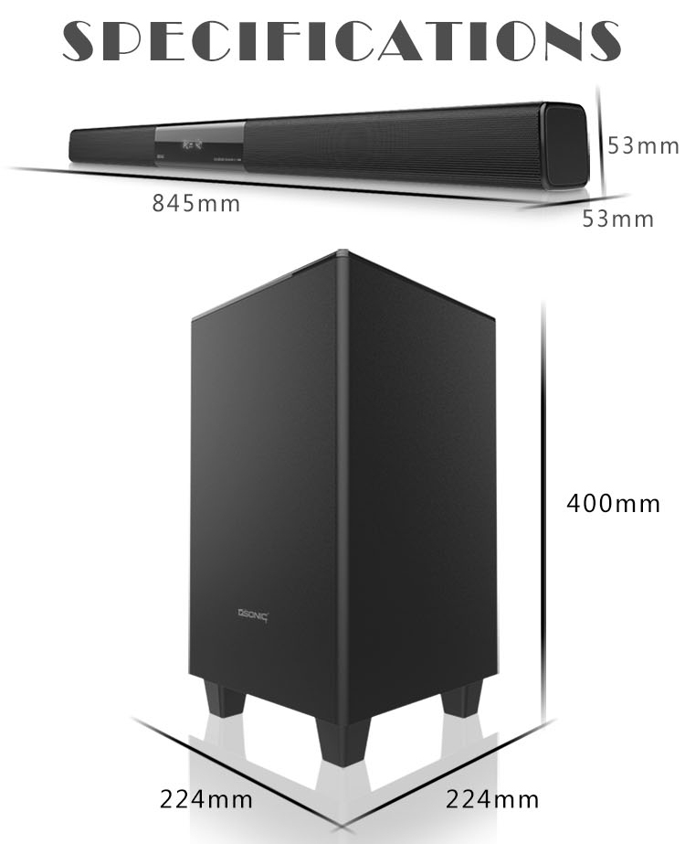 Home theater system optical input COAXIA input TV sound bar speaker in China factory