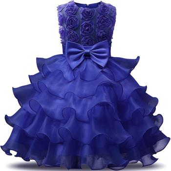 Pageant Flower Girl Dress Kids Ruffles Lace Party Wedding Dresses Gown YY10416