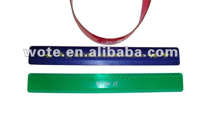 all kinds of colorful practical plastic flexible ruler