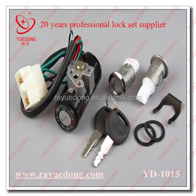 YUEDONG motorcycle lock set for honda wave from 20 years supplier with good quality