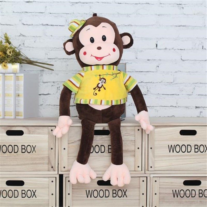 favorble custom stuffed promotional cheap plush monkey smile quilted colorful low price