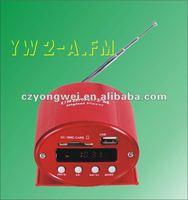YW 2-A.FM portable car usb mp3 music player