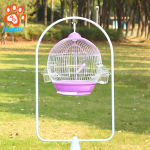 Outdoor small safe non-toxic round canary cockatiel parakeet hanging bird cage