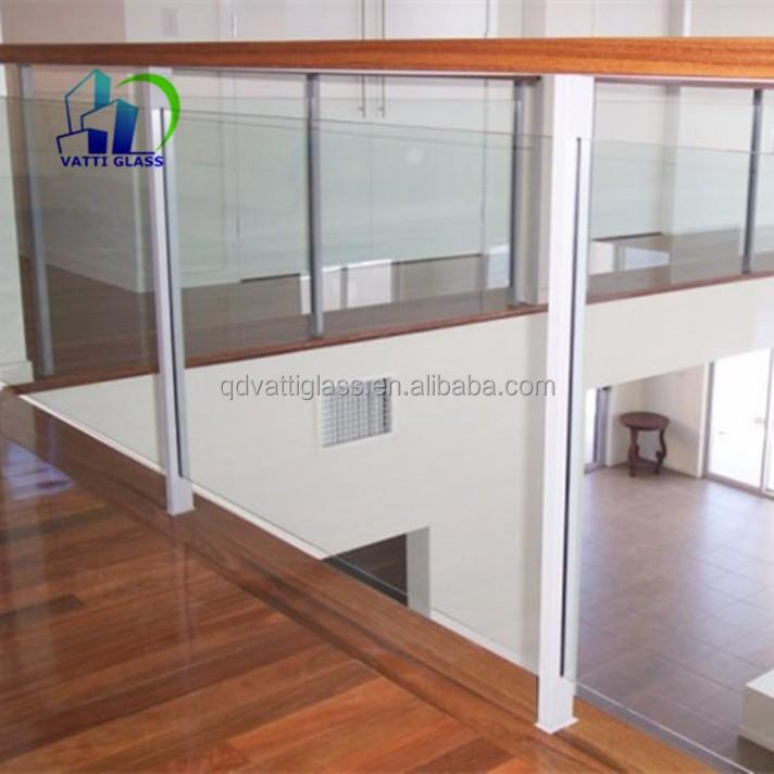 Interieur Glazen Balustrade Systemen Glazen Balustrade Gehard Frameloze Glazen Balkon Reling