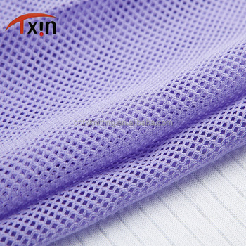 Tear-resistant 100% polyester diamond net knitted mesh fabric for garment and sportswear