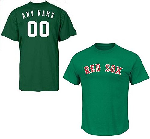 118effaf31a Get Quotations · Green Boston Red Sox CUSTOM (Any Name   on Back) or Blank  Back
