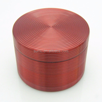 New 4 Layers 63MM Tobacco Grinder Aluminum Crusher Smoke Colorful Hand Muller Herb Spice Herbal Grinder
