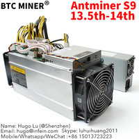 antminer s9 14th s bitcoin asic miner usb 13.5T with power supply btc mining manchine hardware factory wholesale