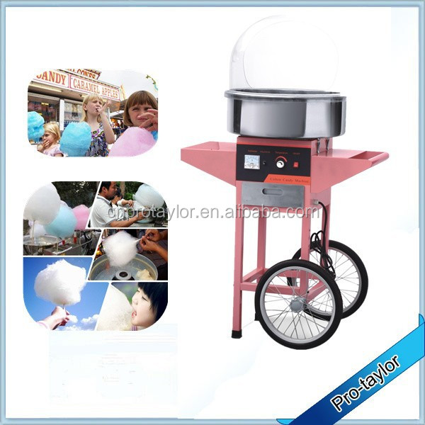 Hot Sale Commercial Candy Floss Machine with Stainless Steel Body