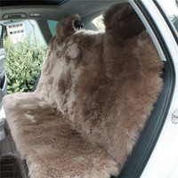 Colorful brown long wool sheep fur car seat cushion cover