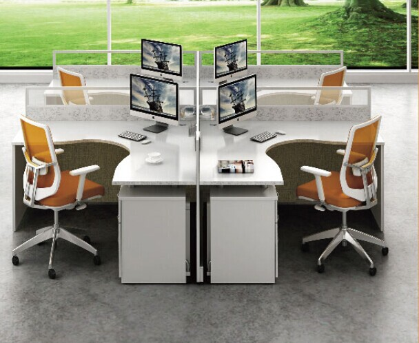 Modern Office Workstation Layout Design,Aluminum Partition Office