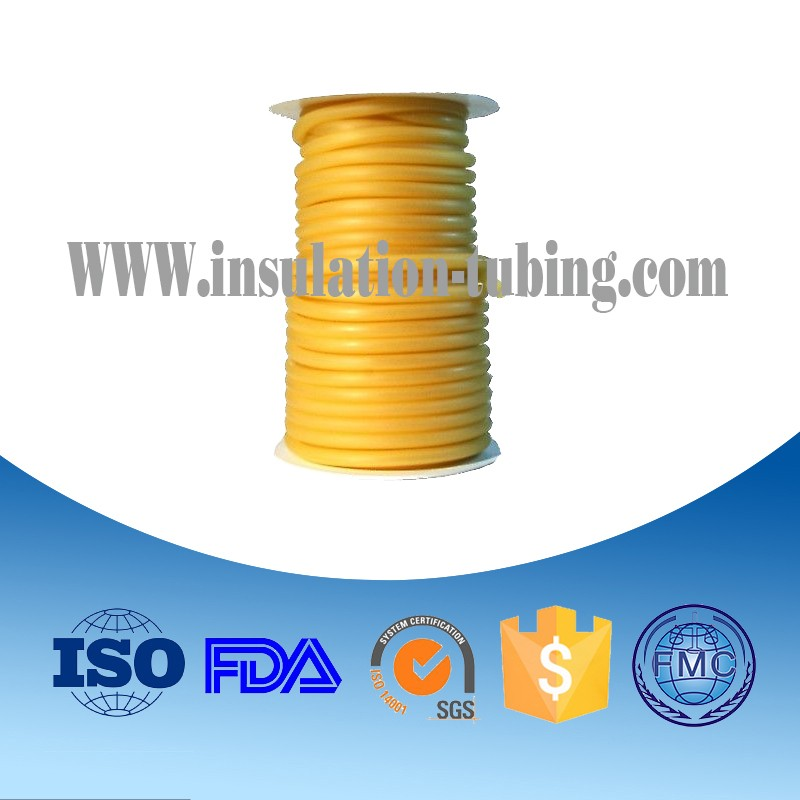 Elastic Bungee Latex Tube Od 9Mm, Elastic Gym Amber Latex Tube ,Training Exercise Latex Band