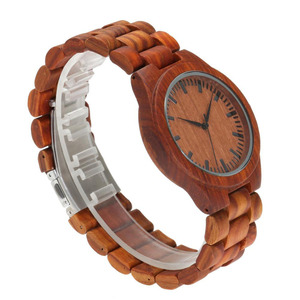 2018 retro natural red sandalwood watch made in china hand made wooden watch
