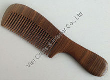 Hair comb made from ebony, size 19x5cm